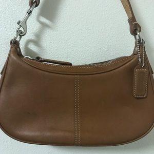 Coach Leather Hampton Demi Hobo Shoulder Bag Purse